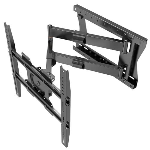 DQ Hercules 2.0 Flex - Soporte de pared para televisores (80 cm, recomendación de televisión: 27 a 75 pulgadas, VESA 100x100 - 400x400 mm, giratorio, giratorio, inclinable y giratorio), negro