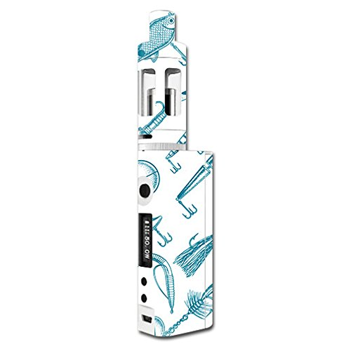 MightySkins Skin Compatible with Kanger Subox Mini Kit – Teal Lures | Protective, Durable, and Unique Vinyl Decal wrap Cover | Easy to Apply, Remove, and Change Styles | Made in The USA