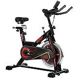 ONETWOFIT Bicicleta Estática, Volante Inercia 15 kg, Bicicleta de ciclo silenciosa con transmisión por correa con manillar y asiento ajustables, Peso Máximo 150kg OT124