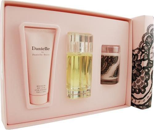 Danielle By Danielle Steel For Women. Set-eau De Parfum Spray 3.3-Ounce & Body Lotion 3.3-Ounce & Candle