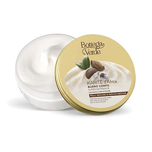 Bottega Verde, Karite d'Africa - Burro corpo super nutriente - con burro e olio di Karite (150 ml) - pelli secche o molto secche