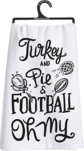 Dish Towel Turkey and Pie and Football Oh My