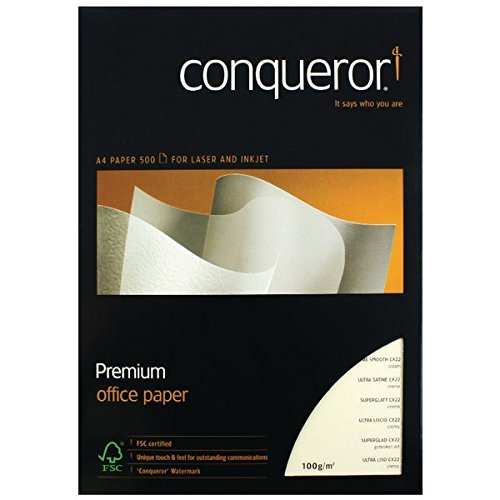 Conqueror Prestige Papier ultra glatt 100 g/m² A4 500 Blatt 1 Kiste Cream
