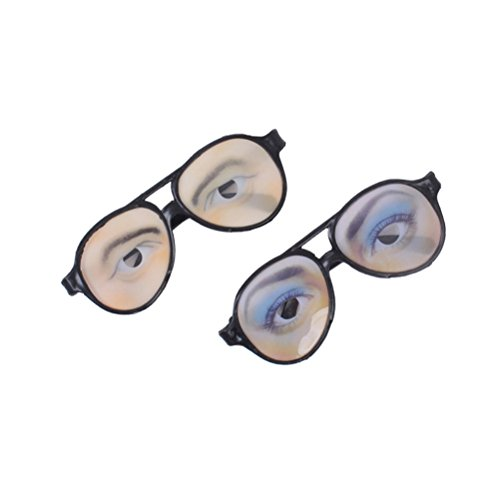 OULII 2 Stück Augen-Brille lustige Verkleidung Brillen für Halloween Kostüm Scherzartikel