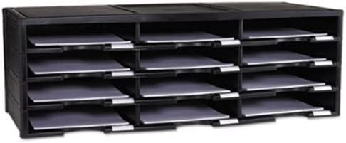 Storex 61602U01C Literature Organizer 12 10 5 Section Large-scale sale 8 x Attention brand