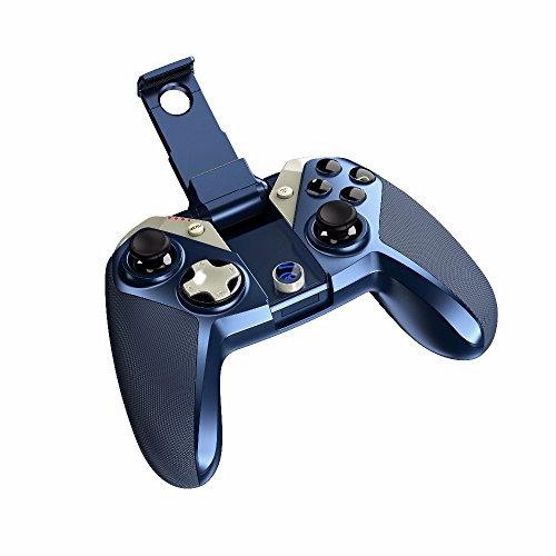 GAMEGUGU Gamepad,USB Gamepad,pour Iphone Contrôleur Pubg Mobile Manette De Jeu sans Fil Mfi pour iOS Iphone Ipad Mac Apple TV Vs Dualshock, Bleu