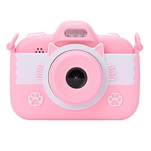 Mini-camera voor kinderen met 3-inch touchscreen met foto- en videofuncties, touchscreen-camera voor kinderen met luidspreker en microfoon, cartooncamera, ondersteuning voor fotoopslag(Roze)