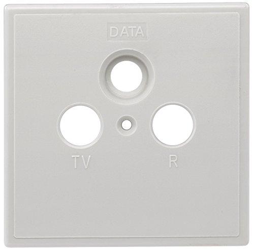 Axing SZU 2-01 Steckdosen-Abdeckung einteilig TV/R/DATA für BSD 963-xx