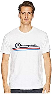 トッドスナイダー Todd Snyder + Champion メンズ トップス シャツ ブラウス White Stripes Graphic Tee [並行輸入品]