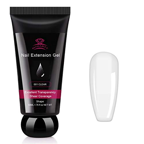 Makartt Nail Extension Gel Clear Builder...