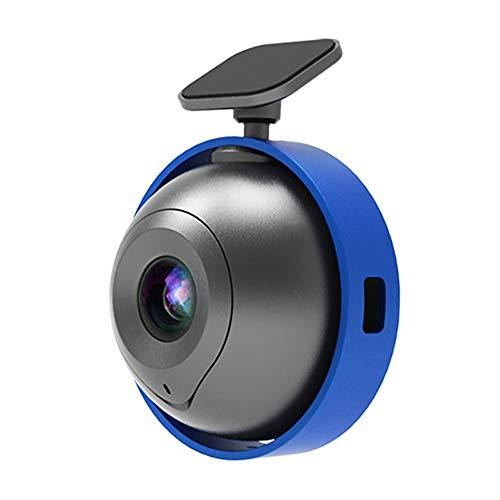 Grabadora de conducción de alta definición de 1080p, Mini Monitor de Mini Circular Circular, WiFi conectado a Teléfono Móvil Control inteligente, Lente de gran angular de 128 grados, Mini cámara Dashb