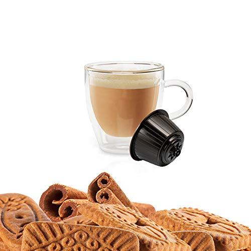 Kickkick Speculoos Cappuccino Biscotto e Cannella Solubile Compatibili Dolce Gusto - 32 Capsule
