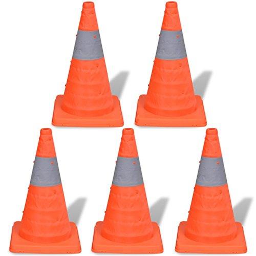 Festnight- Cono de Carretera Plegable Conos de Tráfico Desplegables 42cm 5 Unidades