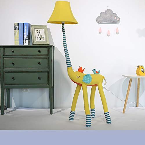 NEWB Lampadaires Lampadaire pour Enfants, Éléphant - Animal De Bande Dessinée Luminaire De Plancher À LED Décoratif pour Pièces Salon Chambre Lampe Debout,Jaune