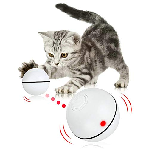 Pakoo Interactive Cat Toys Ball Smart Automatic Rolling...