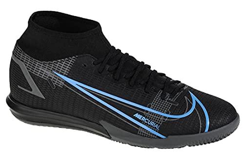 Nike Mercurial Superfly 8 Academy IC, Scarpe da Calcio Unisex-Adulto, Black/Black-Iron Grey, 45.5 EU