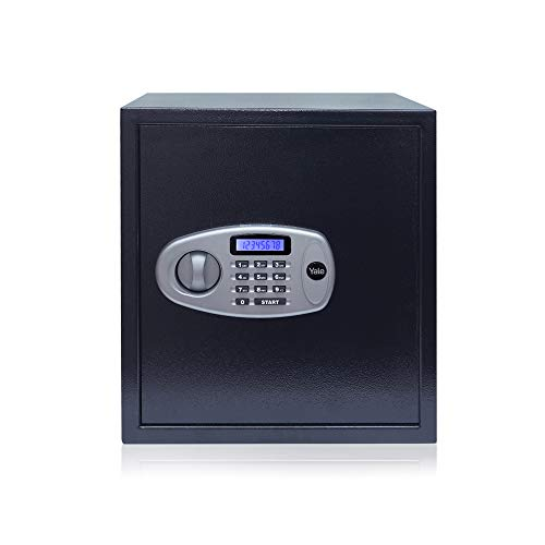 Yale Standard X-Large Electronic Safe with Pincode Access- 41 litres, Black