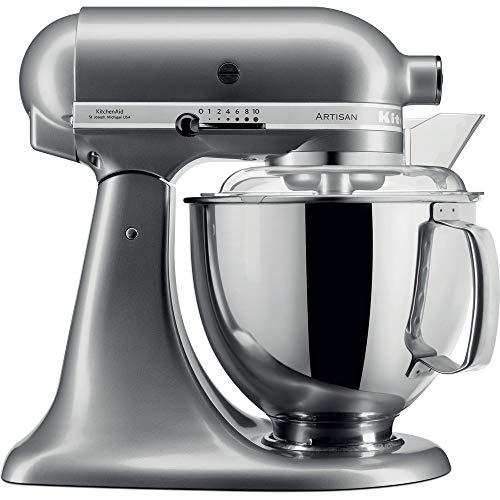 KitchenAid  5KSM175PSEMS Küchenmaschine Artisan 4,8L Medaillon Silber