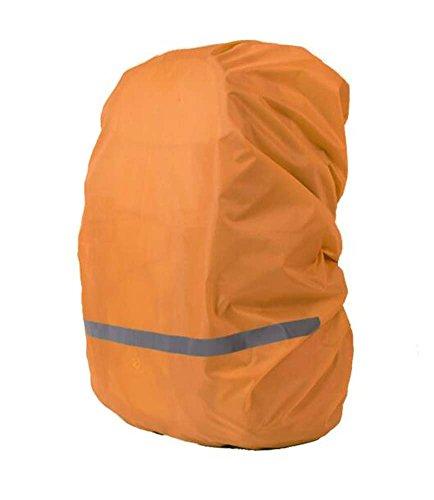 Black Temptation Cas imperméable de Sac à Dos extérieur de Couverture de Pluie réfléchissante pour l'orange de randonnée