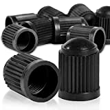 8x Ventilkappen Ventildeckel Auto | Ventilabdeckung Radventilkappen Reifenventilkappen Autoventil-Kappen in schwarz für Auto, PKW, SUV, Motorrad uvm. | gegen Verschmutzung & für idealen Reifendruck
