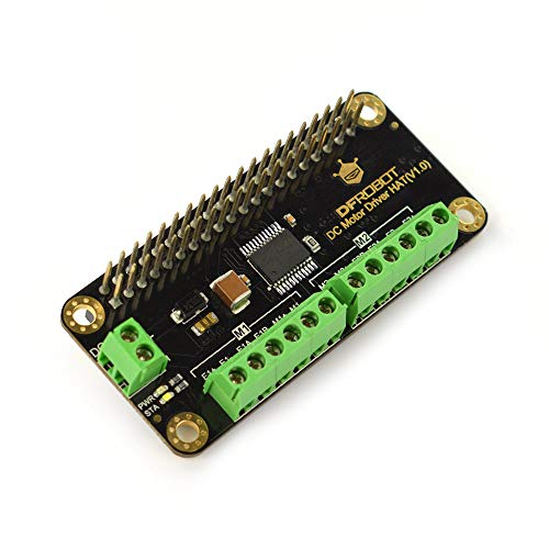 DFROBOT DC Motor Driver HAT for Raspberry Pi via I2C | Support 2-Way DC Motor and DC Motor with Encoder |