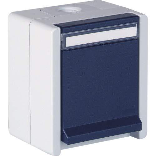 OPUS® RESIST Schutzkontakt-Steckdose 1-fach Ausführung mit Berührungsschutz, Farbe hellgrau/stahlblau