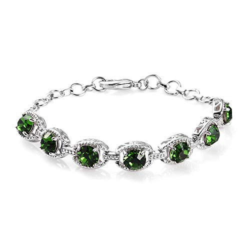 J Francis Tennis Bracelet for Women Size 7.5 Inches Made with Swarovski Green Crystal Gift for Wife/Girl Friend/Mother