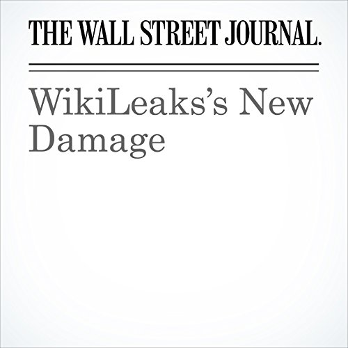 WikiLeaks's New Damage copertina
