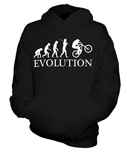 Candymix Downhill DH Mountain Bike Evolución humana unisex niño niño/niña sudaderas con capucha Negro 5-6 Años