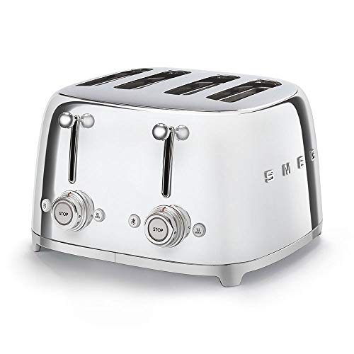 Smeg TSF03SSEU Toaster, 2000, Metall, Chrome