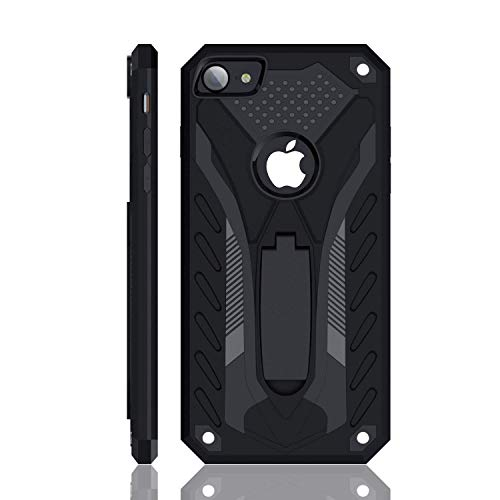 iPhone 7 Case | iPhone 8 Case | iPhone SE 2020 | Military Grade | 12ft. Drop Tested Protective Case | Kickstand | Wireless Charging | Compatible with Apple iPhone 7 / iPhone 8 / iPhone SE 2020 - Black