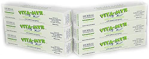 Vita-Myr Rapid rise Zinc+ Max 51% OFF Toothpaste w Xylitol CoQ10 No Fluori and Sugar