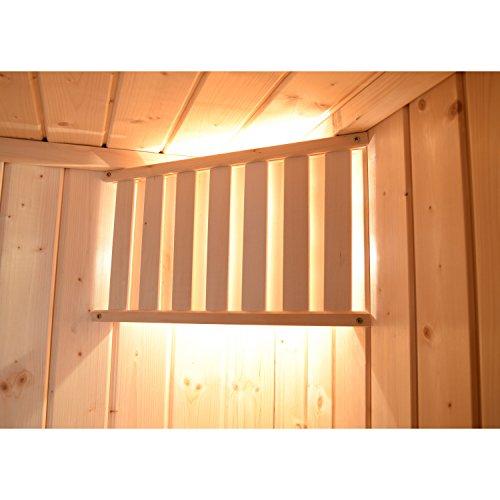 Weka Sauna-Leuchten-Set Produkt: Weka Sauna-Leuchten-Set Bestehend aus: Sauna Leuchte, Keramikfassung (spritzwassergeschützt), Holzblendschirm und Silikon-Sicherheitskabel Kabellänge: 4 m Querschnitt: 2 x 075 mm²