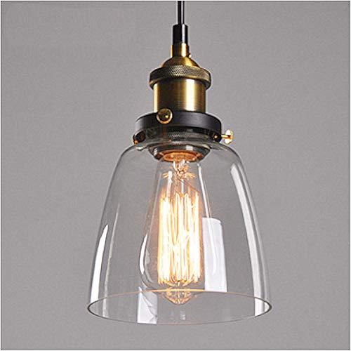 Lampop Lámpara Luz de Colgante Industrial de Cristal Lámpara de Techo Estilo Vintage Retro E27 40W