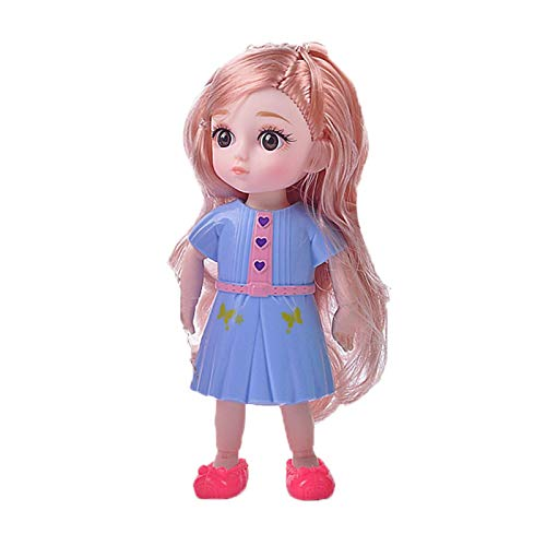 Fiaoen Muñecas BJD 1/6 SD muñecas 5.9 Pulgadas 12 muñecas articuladas con Bolas Juguetes de Bricolaje con Juego Completo Ropa Zapatos Maquillaje de Peluca, niñas