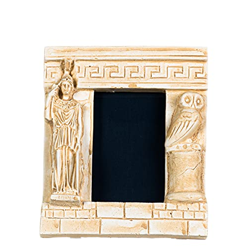 Athena - Marco de fotos con búho, diseño de diosa de la sabiduría, color dorado