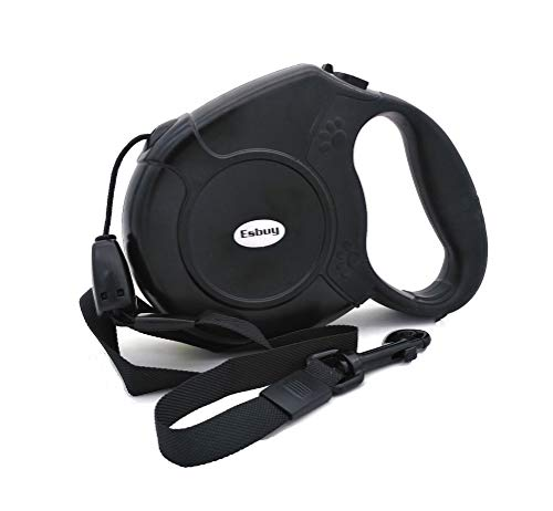 Esbuy Heavy Duty Retractable Dog Leash 26ft,Pet Long Walking Leashes Leads for Small Medium Large Dogs Doggie Up to 100lbs (Black)