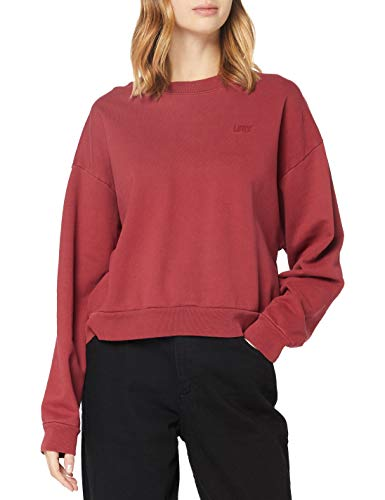 Levi's Damen Diana Crew Sweatshirt, Biking Red Tight Loops Garment Dye Biking Red, M