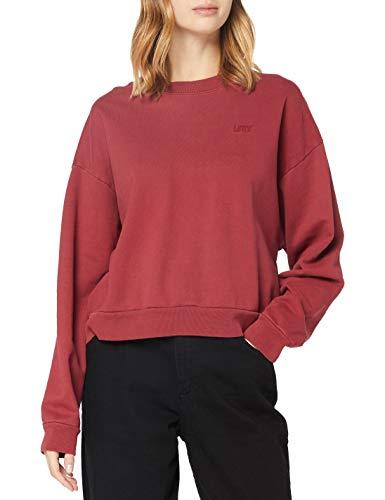 Levi's Damen Diana Crew Sweatshirt, Biking Red Tight Loops Garment Dye Biking Red, X-Small