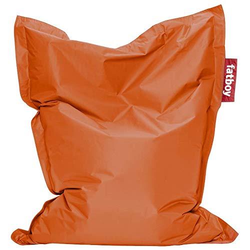 Fatboy® Junior orange | Original Nylon-Sitzsack | Klassisches Indoor Sitzkissen speziell für Kinder | 130 x 100 cm