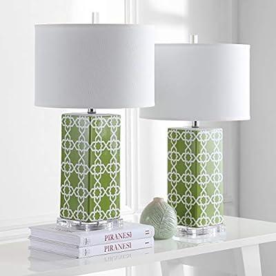 Safavieh Lighting Collection Quatrefoil 27-inch Table Lamp (Set of 2)