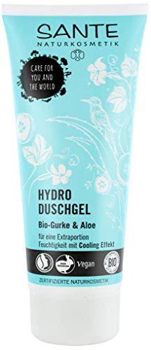 SANTE Naturkosmetik Hydro Duschgel, Belebt & erfrischt, Schützt vor dem Austrocknen, Vegan, Bio-Extrakte, 1x200ml