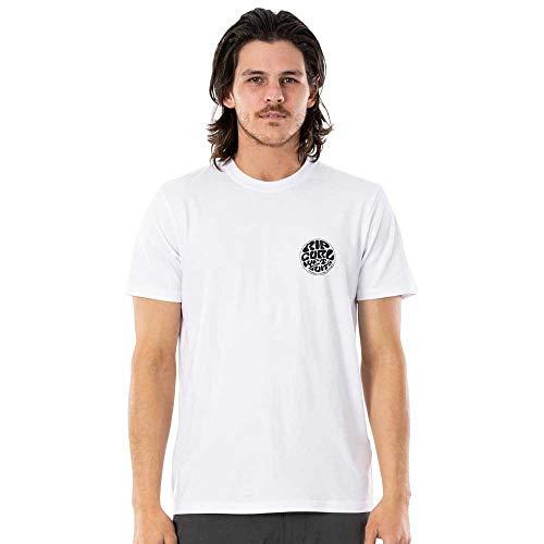 Rip Curl - Maglietta da uomo Wettie Essential con retro bianco L