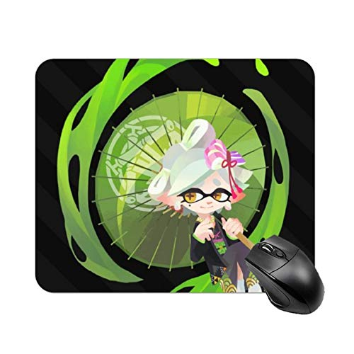 Spla-toon Gaming Mouse Pad,Non-Slip Rubber Base Square Mouse Mat,Premium-Textured Waterproof Mousepad for Office Laptop Computer Desktops PC