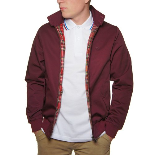 Merc London - Blouson Harrington - r?tro/Mod - Bordeaux - Medium