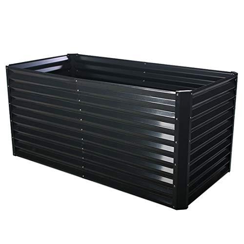 OUTLIV. Hochbeet 90x180x84cm Zink-Aluminium beschichtet, Gemüsebeet oder Kräuterbeet für Garten und Terrasse Dunkelgrau