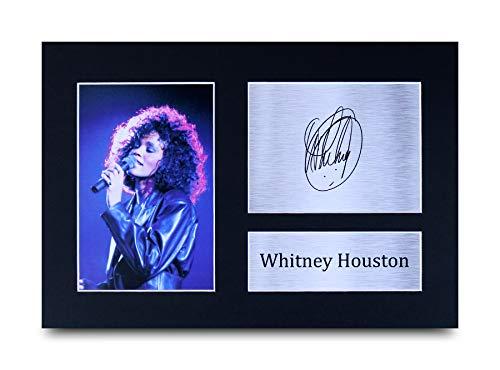 HWC Trading Whitney Houston A4 Ungerahmt Signiert Gedruckt Autogramme Bild Druck-Fotoanzeige Geschenk Für Musik-Fans