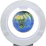 THj Globo de levitación magnética Flotante Creativa Luz Nocturna Mapa del Mundo Lámpara de Bola Iluminación de Novedad Oficina Decoración para el hogar Adorno de Globo terrestre Globo del Mundo