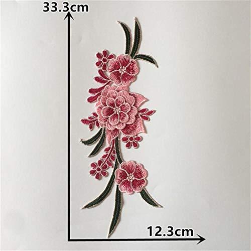 Nieuwe aankomst 3D bloem Borduren Kanten Kraag Applique Kant Hals DIY Kleding Naaien Accessoires Benodigdheden Een paar te koop, 2 STUKS VERKOOP