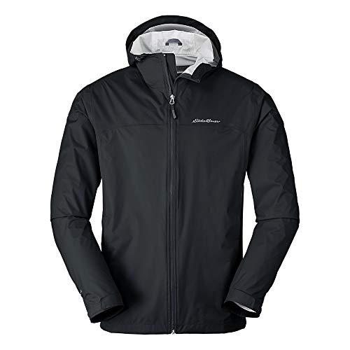 Eddie Bauer Men's Cloud Cap Rain Jacket Black